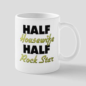 Half Housewife Half Rock Star Mugs