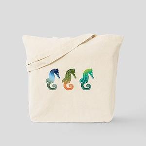 Tropical Seahorse Parade Tote Bag