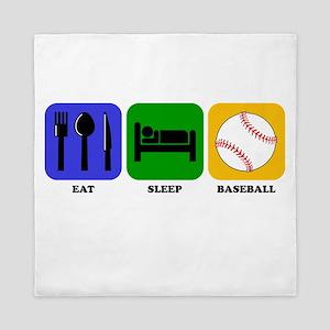 Eat Sleep Baseball Queen Duvet