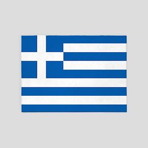 Flag of Greece 5'x7'Area Rug