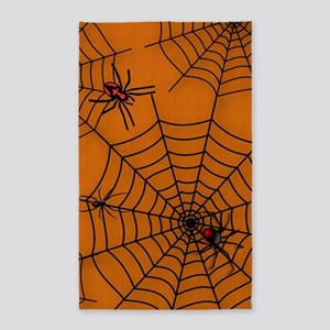 Halloween Spider Web 3'x5' Area Rug