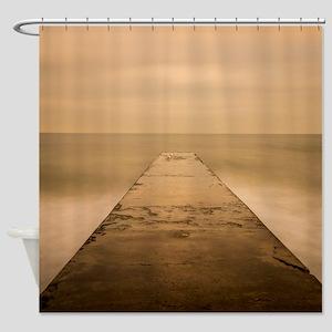Ocean View Pier Shower Curtain