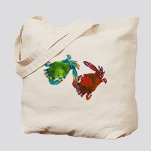 Maryland Crabs Before After Tote Bag