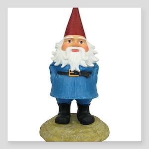 "Gnome Square Car Magnet 3"" x 3"""
