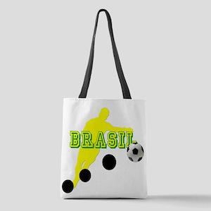 Football Player Brasilero Polyester Tote Bag
