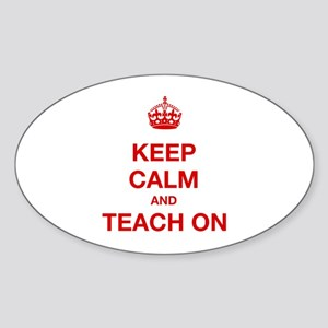 Keep Calm And Teach On Sticker