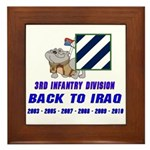 Back to Iraq Framed Tile