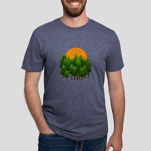 LIGHTED UP Mens Tri-blend T-Shirt