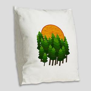 LIGHTED UP Burlap Throw Pillow