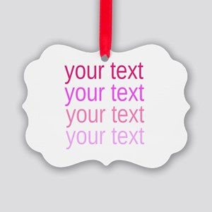 shades of pink text Ornament