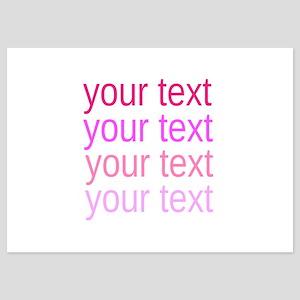shades of pink text Invitations