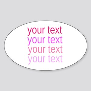 shades of pink text Sticker