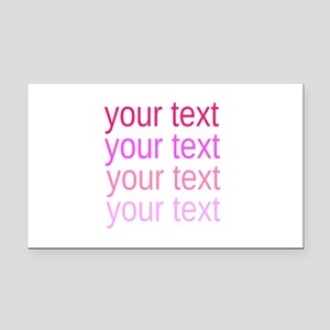 shades of pink text Rectangle Car Magnet