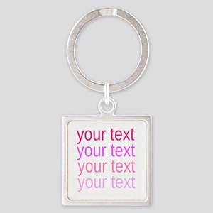 shades of pink text Keychains