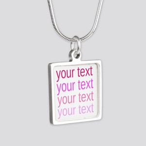 shades of pink text Necklaces