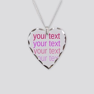 shades of pink text Necklace