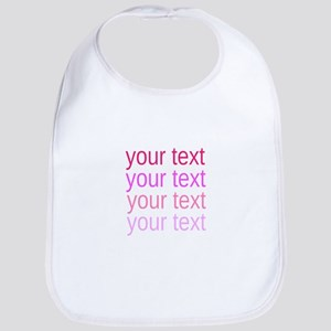shades of pink text Bib