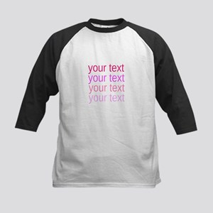 shades of pink text Baseball Jersey