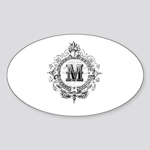 Modern Vintage French monogram letter M Sticker