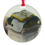 The Bible Round Ornament