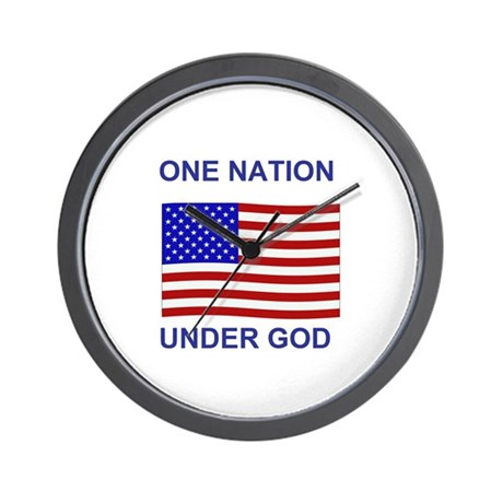 One Nation Under God Wall Clock