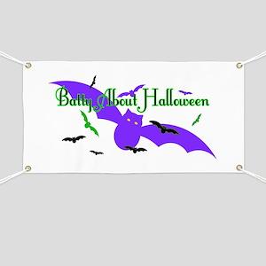 Batty About Halloween Banner