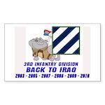Back to Iraq Rectangle Sticker