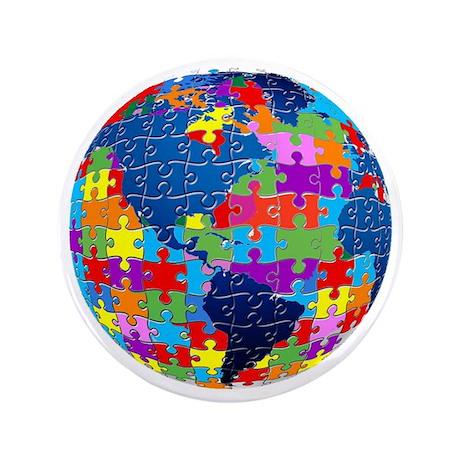 "Global Love 3.5"" Button"