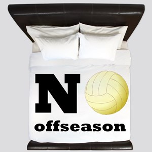 No Volleyball Offseason King Duvet