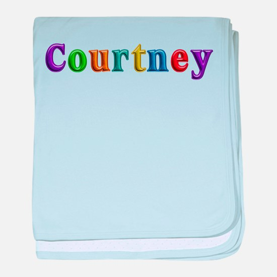 Courtney Shiny Colors baby blanket