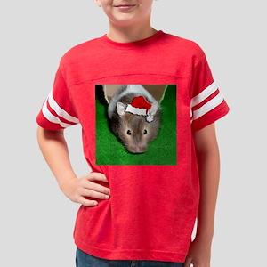Santa Hamster #1 Youth Football Shirt
