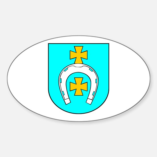 City Lapy Oval Decal