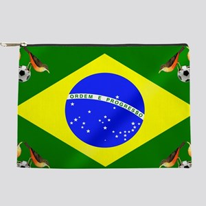 Brazil Football Flag Makeup Pouch