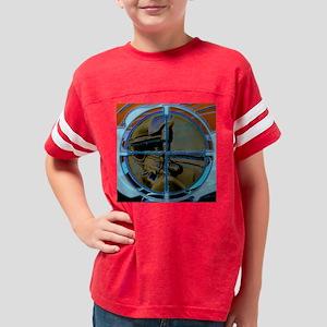 4-wallclockpaintball logo Youth Football Shirt