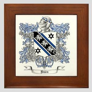 Brown Family Crest 4 Framed Tile