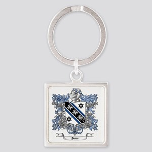 Brown Family Crest 4 Square Keychain