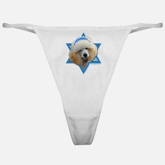 Hanukkah Star of David - Poodle Classic Thong