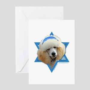 Hanukkah Star of David - Poodle Greeting Card