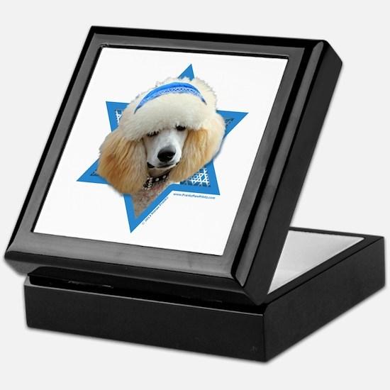 Hanukkah Star of David - Poodle Keepsake Box