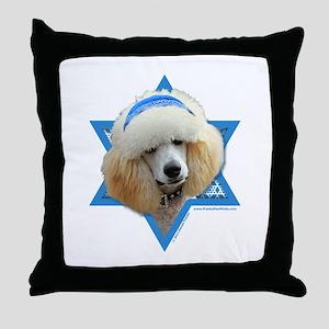 Hanukkah Star of David - Poodle Throw Pillow