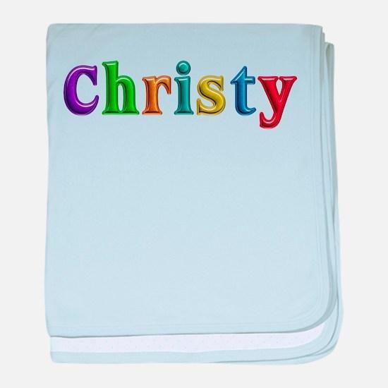 Christy Shiny Colors baby blanket