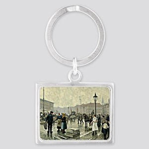 The Fish Market at Gammelstrand Landscape Keychain