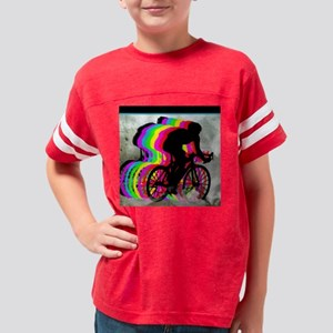 Cyclists Cycling in the Cloud Youth Football Shirt