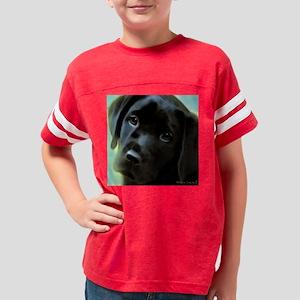 BlackLabPupArt12 Youth Football Shirt
