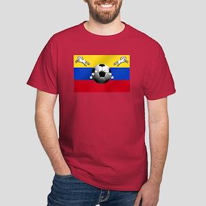 Venezuela Soccer Flag Dark T-Shirt
