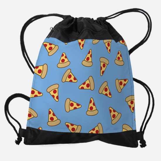 Cute Pizza Pattern Drawstring Bag