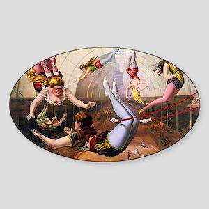 Trapeze Artists, Circus Sticker