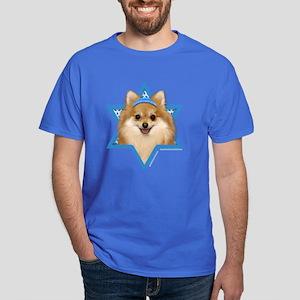Hanukkah Star of David - Pom Dark T-Shirt