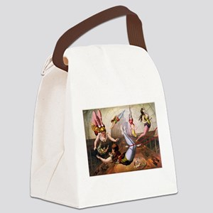 Trapeze Artists, Circus Canvas Lunch Bag