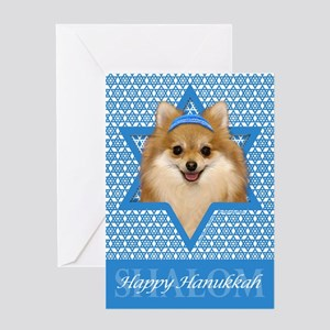Hanukkah Star of David - Pom Greeting Card
